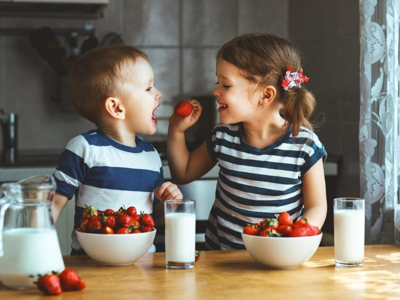 Organic food for children and dietary balance